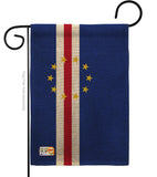 Cape Verde - Nationality Flags of the World Vertical Impressions Decorative Flags HG140047 Made In USA