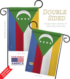 Comoros - Nationality Flags of the World Vertical Impressions Decorative Flags HG140056 Made In USA