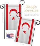 Cyprus Northern - Nationality Flags of the World Vertical Impressions Decorative Flags HG140065 Made In USA