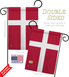Denmark - Nationality Flags of the World Vertical Impressions Decorative Flags HG140067 Made In USA