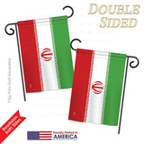 Iran - Nationality Flags of the World Vertical Impressions Decorative Flags HG140110 Printed In USA