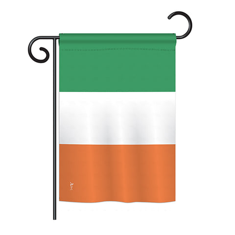Ireland - Nationality Flags of the World Vertical Impressions Decorative Flags HG140112 Printed In USA