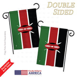 Kenya - Nationality Flags of the World Vertical Impressions Decorative Flags HG140126 Printed In USA