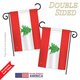 Lebanon - Nationality Flags of the World Vertical Impressions Decorative Flags HG140134 Printed In USA