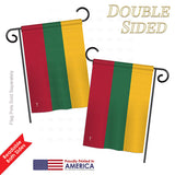 Lithuania - Nationality Flags of the World Vertical Impressions Decorative Flags HG140139 Printed In USA