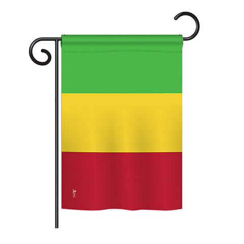 Mali - Nationality Flags of the World Vertical Impressions Decorative Flags HG140148 Printed In USA