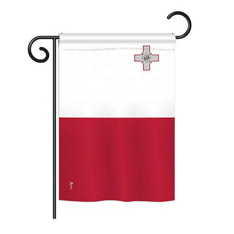 Malta - Nationality Flags of the World Vertical Impressions Decorative Flags HG140149 Printed In USA