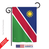 Namibia - Nationality Flags of the World Vertical Impressions Decorative Flags HG140162 Printed In USA