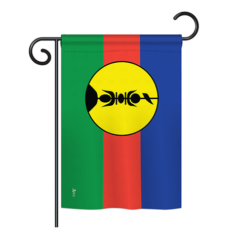 New Caledonia - Nationality Flags of the World Vertical Impressions Decorative Flags HG140167 Printed In USA