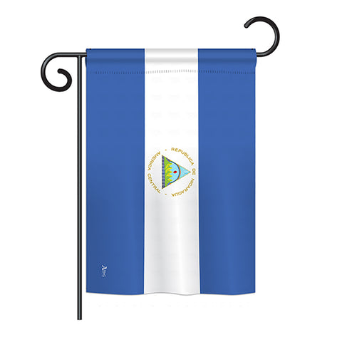 Nicaragua - Nationality Flags of the World Vertical Impressions Decorative Flags HG140169 Printed In USA