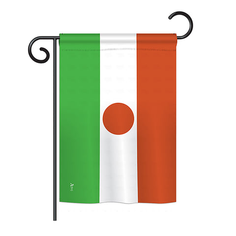 Niger - Nationality Flags of the World Vertical Impressions Decorative Flags HG140170 Printed In USA