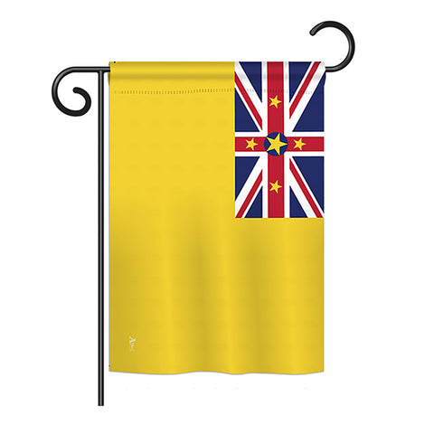 Niue - Nationality Flags of the World Vertical Impressions Decorative Flags HG140172 Printed In USA