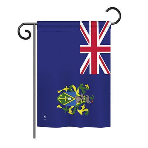 Pitcairn Islands - Nationality Flags of the World Vertical Impressions Decorative Flags HG140188 Printed In USA