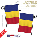 Romania - Nationality Flags of the World Vertical Impressions Decorative Flags HG140194 Printed In USA
