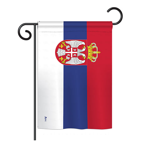 Serbia - Nationality Flags of the World Vertical Impressions Decorative Flags HG140209 Printed In USA