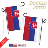 Slovakia - Nationality Flags of the World Vertical Impressions Decorative Flags HG140213 Printed In USA