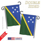 Solomon Islands - Nationality Flags of the World Vertical Impressions Decorative Flags HG140215 Printed In USA