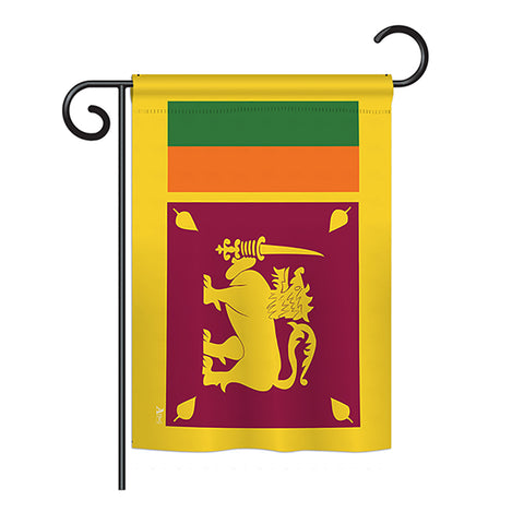 Sri Lanka - Nationality Flags of the World Vertical Impressions Decorative Flags HG140220 Printed In USA