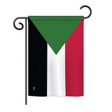 Sudan - Nationality Flags of the World Vertical Impressions Decorative Flags HG140221 Printed In USA
