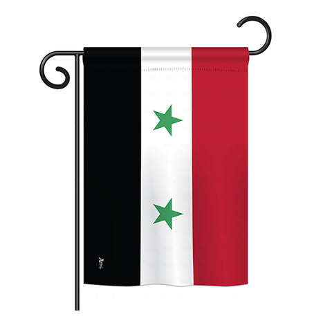 Syria - Nationality Flags of the World Vertical Impressions Decorative Flags HG140227 Printed In USA