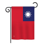 Taiwan - Nationality Flags of the World Vertical Impressions Decorative Flags HG140228 Printed In USA