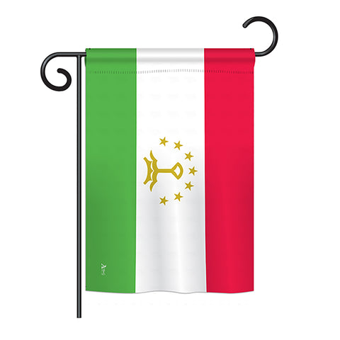 Tajikistan - Nationality Flags of the World Vertical Impressions Decorative Flags HG140229 Printed In USA