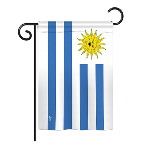 Uruguay - Nationality Flags of the World Vertical Impressions Decorative Flags HG140247 Printed In USA
