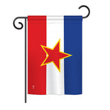 Yugoslavia - Nationality Flags of the World Vertical Impressions Decorative Flags HG140258 Printed In USA