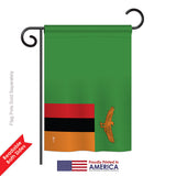 Zambia - Nationality Flags of the World Vertical Impressions Decorative Flags HG140260 Printed In USA