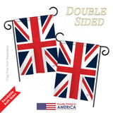 UK - Nationality Flags of the World Vertical Impressions Decorative Flags HG108074 Printed In USA
