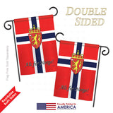 Norway - Nationality Flags of the World Vertical Impressions Decorative Flags HG108092 Printed In USA