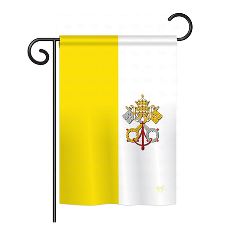 Vatican City - Nationality Flags of the World Vertical Impressions Decorative Flags HG108106 Printed In USA