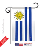 Uruguay - Nationality Flags of the World Vertical Impressions Decorative Flags HG108162 Printed In USA