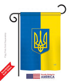 Ukraine - Nationality Flags of the World Vertical Impressions Decorative Flags HG108192 Printed In USA