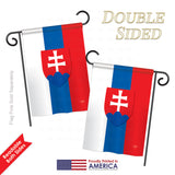 Slovakia - Nationality Flags of the World Vertical Impressions Decorative Flags HG108197 Printed In USA