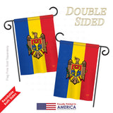 Moldova - Nationality Flags of the World Vertical Impressions Decorative Flags HG108213 Printed In USA