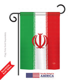 Iran - Nationality Flags of the World Vertical Impressions Decorative Flags HG108215 Printed In USA