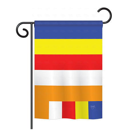 Buddhist - Nationality Flags of the World Vertical Impressions Decorative Flags HG108225 Printed In USA