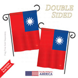 Taiwan - Nationality Flags of the World Vertical Impressions Decorative Flags HG108231 Printed In USA