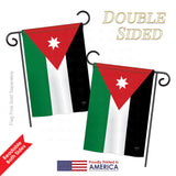 Jordan - Nationality Flags of the World Vertical Impressions Decorative Flags HG108245 Printed In USA