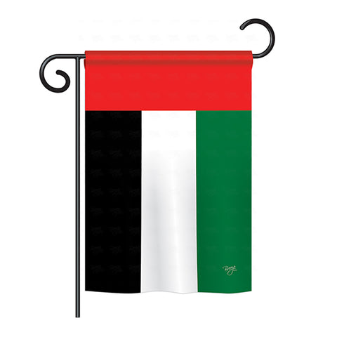 United Arab Emirates - Nationality Flags of the World Vertical Impressions Decorative Flags HG108247 Printed In USA