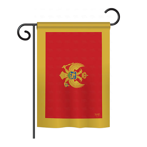Montenegro - Nationality Flags of the World Vertical Impressions Decorative Flags HG108249 Printed In USA