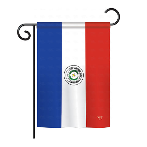 Paraguay - Nationality Flags of the World Vertical Impressions Decorative Flags HG108255 Printed In USA