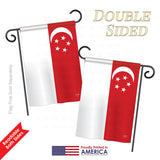 Singapore - Nationality Flags of the World Vertical Impressions Decorative Flags HG108258 Printed In USA