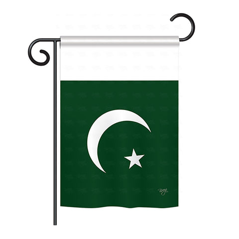 Pakistan - Nationality Flags of the World Vertical Impressions Decorative Flags HG108271 Printed In USA
