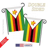 Zimbabwe - Nationality Flags of the World Vertical Impressions Decorative Flags HG108283 Printed In USA
