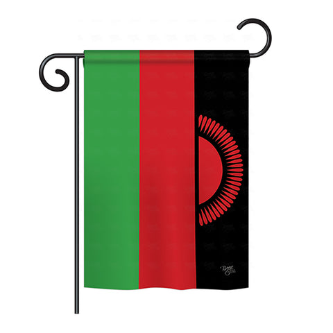 Malawi - Nationality Flags of the World Vertical Impressions Decorative Flags HG108285 Printed In USA