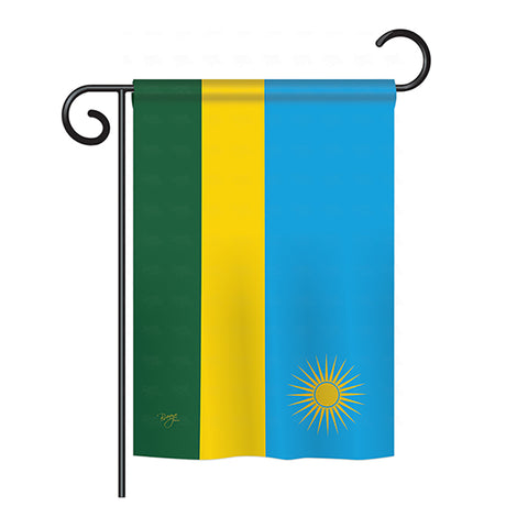 Rwanda - Nationality Flags of the World Vertical Impressions Decorative Flags HG108292 Printed In USA