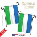 Sierra Leone - Nationality Flags of the World Vertical Impressions Decorative Flags HG108306 Printed In USA