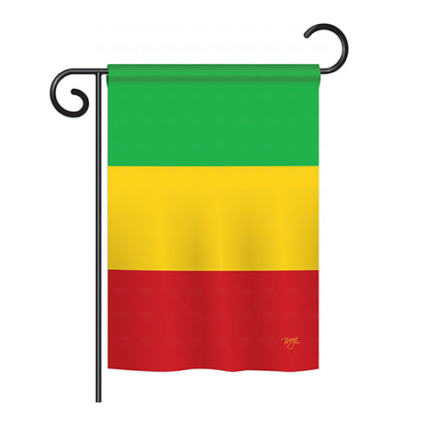 Mali - Nationality Flags of the World Vertical Impressions Decorative Flags HG108312 Printed In USA